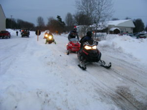 Snowmobiling on White Pine Trail